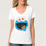 Cookie Smiling Face with Heart-Shaped Eyes T Shirt