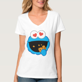 Cookie Smiling Face with Heart-Shaped Eyes T-Shirt