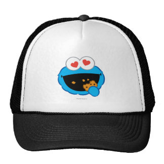 Cookie Smiling Face with Heart-Shaped Eyes Trucker Hat