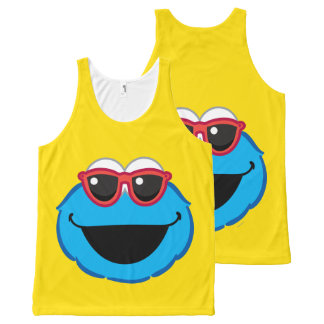 Cookie  Smiling Face with Sunglasses All-Over Print Tank Top