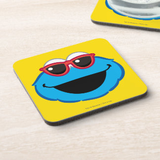 Cookie  Smiling Face with Sunglasses Drink Coaster