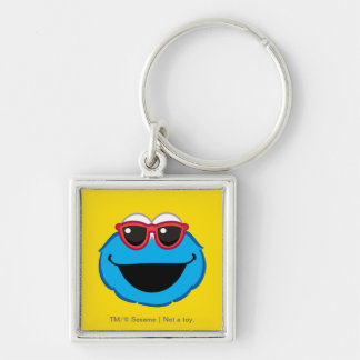 Cookie  Smiling Face with Sunglasses Keychain