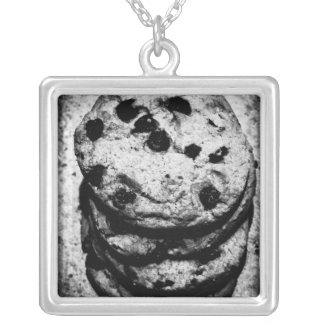 cookie stairs silver plated necklace