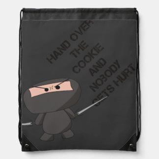 """Cookie"" String Bag - A Nawty Ninja Design Drawstring Backpacks"