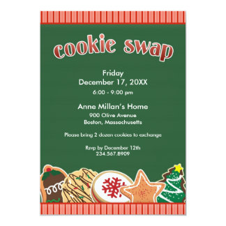 Cookie Swap / Exchange Holiday Flat Invitation