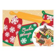 Cookie Swap / Exchange Holiday Flat Invitation