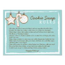Cookie Swap Instruction Card - Custom Design