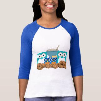 Cookie Sweets Dessert Food Cute Animal Owl Bird Tee Shirt