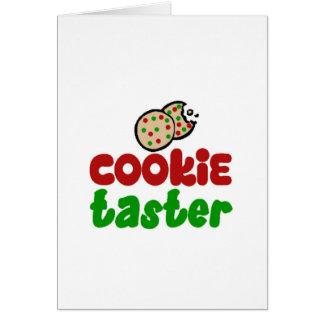 Cookie taster cards