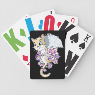 Cookie the Cat Bicycle Playing Cards
