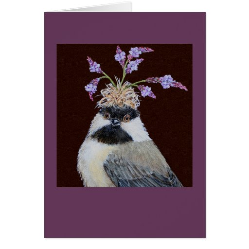 Cookie, the chickadee card