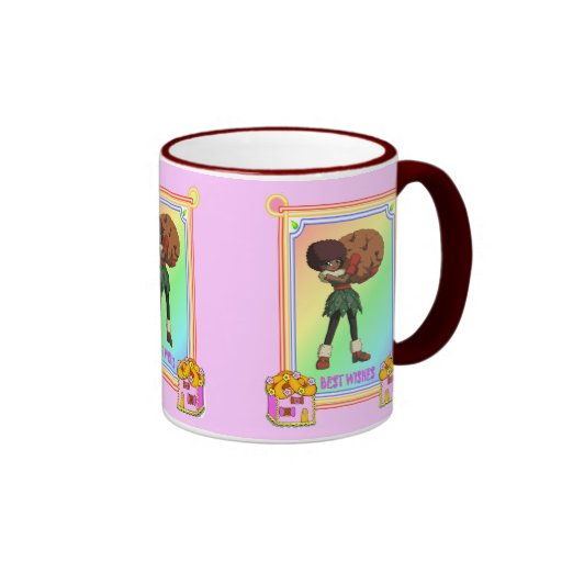 Cookie with cookie houses ringer mug