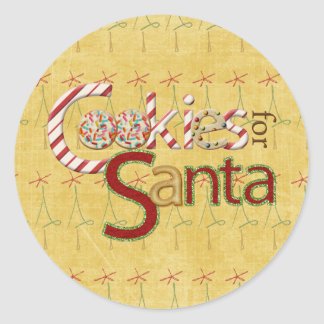 Cookies and Candy for Santa Classic Round Sticker