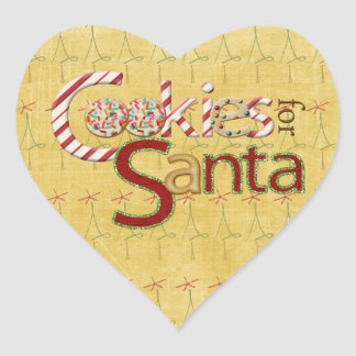 Cookies and Candy for Santa Heart Stickers