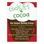 """Cookies and Cocoa Holiday Party Invitation 6.5"""" X 8.75"""" Invitation Card"""