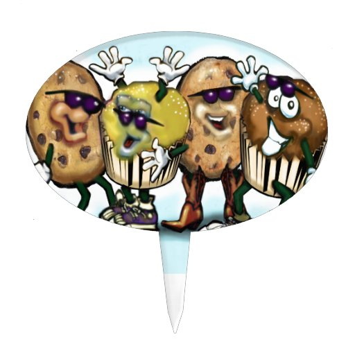 Cookies and Cupcakes Cake Picks