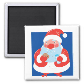 Cookies and Milk 2 Inch Square Magnet