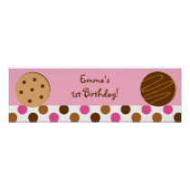 Cookies and Milk Baby Shower Banner Sign