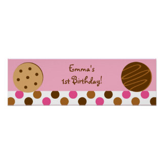 Cookies and Milk Baby Shower Banner Sign Poster