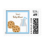 Cookies and Milk Baby Shower Postage Stamps