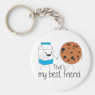Cookies and Milk - Best Friends Keychain