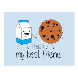 Cookies and Milk - Best Friends Postcard