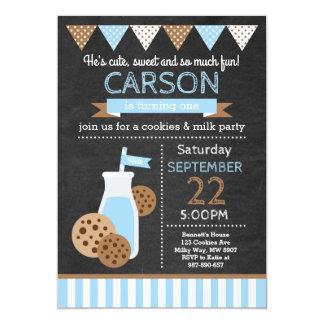 Cookies and Milk Birthday Invitation