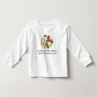 Cookies and Milk...Bribery... Toddler Long Sleeve Toddler T-shirt