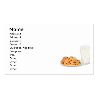 cookies and milk business card