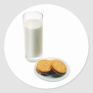 Cookies and Milk Classic Round Sticker
