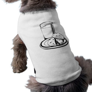 Cookies and Milk Dog Tee Shirt