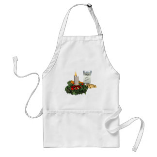 Cookies and Milk for Santa Adult Apron
