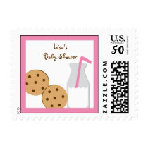 Cookies and Milk Girl Postage Stamps