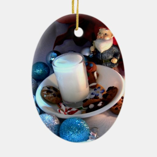 Cookies and Milk Gnome I Christmas Ornament