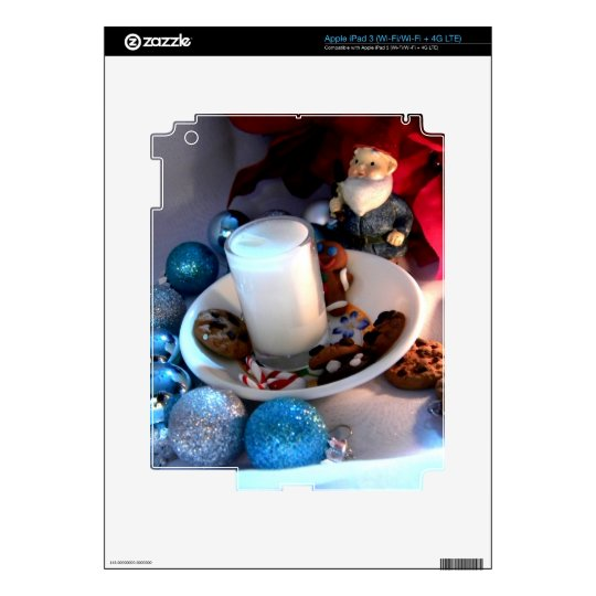 Cookies and Milk Gnome I iPad 3 Decals