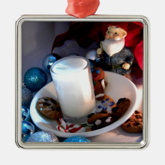 Cookies and Milk Gnome I Metal Ornament