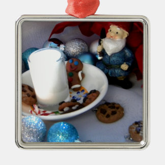 Cookies and Milk Gnome II Metal Ornament