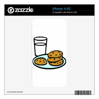 Cookies and Milk iPhone 4S Skin