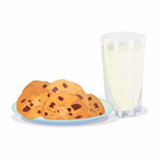 cookies and milk standing photo sculpture