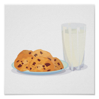cookies and milk posters