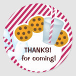 Cookies and milk stickers