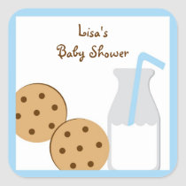 Cookies and Milk Stickers Envelope Seals