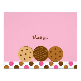 Cookies and Milk Thank You Note Cards Personalized Invitation