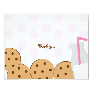 Cookies and Milk Thank You Note Cards Invites