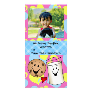 Cookies and Milk Together Cute Kids Valentine Card