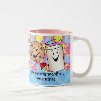 Cookies and Milk Valentine Two-Tone Coffee Mug