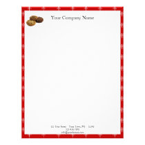 Cookies and Other Delicious Desserts on Red Letterhead