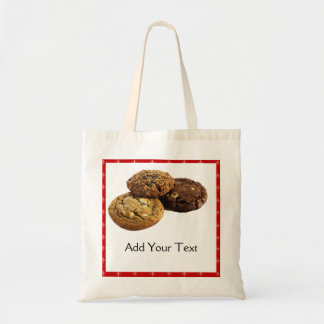 Cookies and Other Delicious Desserts on Red Tote Bag