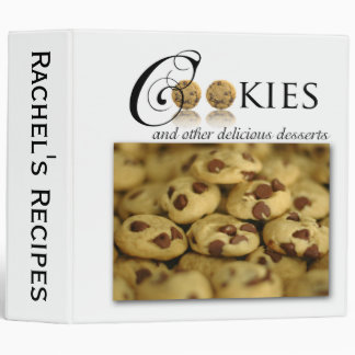 Cookies and Other Delicious Desserts on White 3 Ring Binder