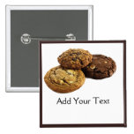 Cookies and Other Delicious Desserts on White Pinback Buttons